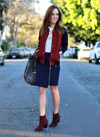 Burgundy Red And Navy Blue Style