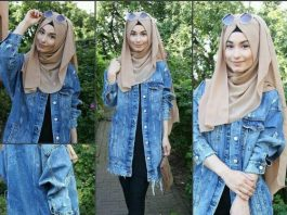 Hijab Style Levis Jacket For Women